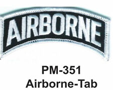 """3"""" AIRBORNE-TAB Embroidered Military Patch"""