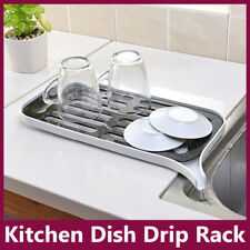 Kitchen Dish Drainer Drip Tray Rack Board Sink Drying Holder Washing Up Bowl