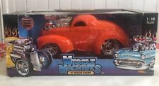 MUSCLE MACHINES FUNLINE 1941 41 427 FORD WILLYS COUPE ORANGE PRO STREET HOT ROD
