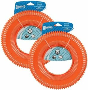 Chuckit! Rugged Flyer Dog Toy, Large, Assorted Colors (2 Pack)