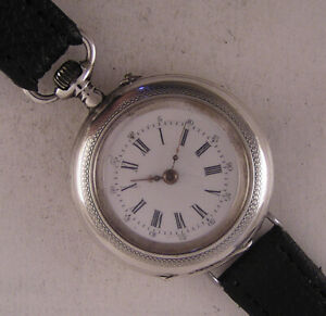 Lovely SILVER CASE Fully Serviced Original 1900 Swiss Gent's Wrist Watch Perfect