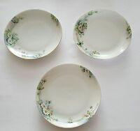 Hutschenreuther Selb Bavaria Plates Hand Painted Daisy Floral Set of Three (3)