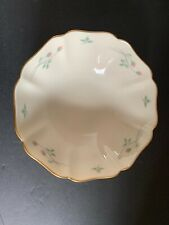 Vintage Lenox Rose Manor Small Scalloped Candy/Nut Dish 24k