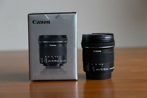 Canon 10-18mm f/4.5-5.6 EF-S IS STM Lens, like new