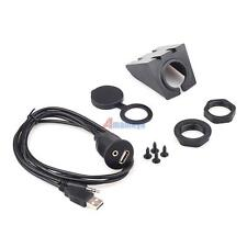 Car Dash Board Mount 3.5mm USB AUX In Input Socket Extension Lead Panel TDD#
