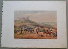 MARCHE - ANCONA - MONTE PELAGO. Assedio. Dall'opera di Carlo Bossoli, anno 1860.