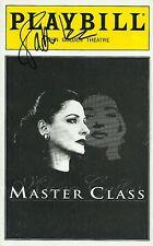 Patti Lupone signed MasterClass Playbill