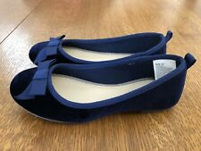 NWT Gymboree Picture Day T-Strap Bow Flats Shoes Blue Size 4,9 Girl