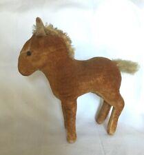 Vintage Steiff Velveteen Pony Or Donkey