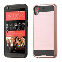 HTC Desire 626 626S 530 555 650 Rose Gold Brushed Shockproof Slim Phone Case