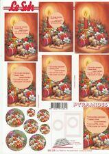 Feuille 3D Pyramides à découper A4 - 630-125 Noël Bougie - Decoupage Christmas