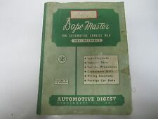 1951-1952 Dope-Master Automotive Digest Specifications Tune-Up Wiring Diagrams