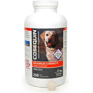 Cosequin DS Maximum Strength Plus MSM Chewable Tablets 250 Count Free Shiping