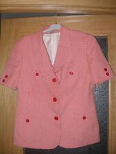 REBAJAS DRRFECOTI mujer chaqueta TRAJE talla l xl  44 46/48 rojo CREMA gallo