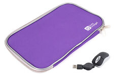 Compact Mouse For Compaq CQ57-460SA Laptop + Water Resistant Purple Case