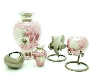 Pink Bear Infant/Baby Urn, heart, keepsake