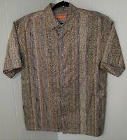 Tori Richard Mens Size XL Aloha Hawaiian Shirt Tapa Pattern Cotton XL