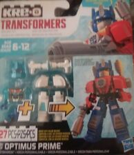 kre-o kreo transformers kreon optimus prime 27 piece blizzard strike