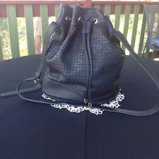 Shoulder Bag - Duffle Bag Style - Sportsgirl Draw String - Black