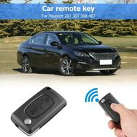 433MHz ID46 Chip 2 Button Folding Remote Key Fob for Peugeot 207 307 308