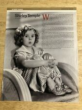 SHIRLEY TEMPLE / KATHARINE HEPBURN - Vintage 1999 Magazine Clipping Page 2-sided
