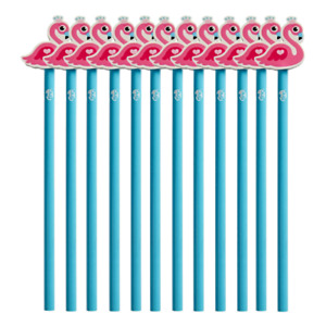 Pack of 12 Pencils   Novelty Pencils   Classroom/Office Use   Flamingo Character