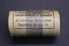 1975 *76 CARTUCHO ORIGINAL 100 PESETAS - 25 MONEDAS JUAN CARLOS I