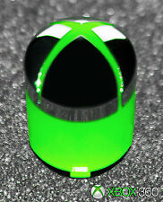 Genuine OEM Microsoft XBox 360 Controller Green & Chrome Home Guide Button
