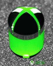 Genuine OEM Microsoft Brand XBox 360 Controller Green & Chrome Home Guide Button