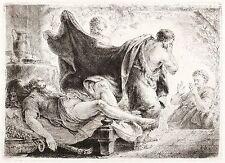CHRISTIAN BERNHARD RODE - Der trunkene Noah - Radierung 1769/1770