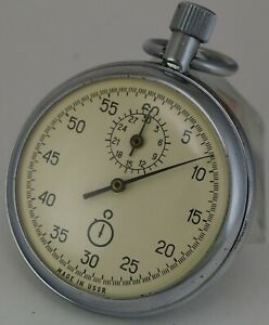 Vintage stopwatch AGAT mechanical made in USSR Soviet Russian