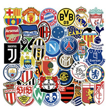 Soccer Clubs Logo Die Cut Sticker Decals Sets