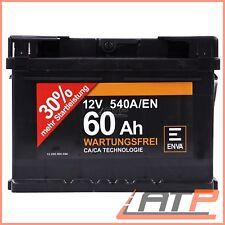 ENVA 60Ah 540A 12V AUTOBATTERIE STARTERBATTERIE PKW-BATTERIE 32124103