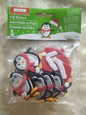Felt Penguin & Snowman Stickers
