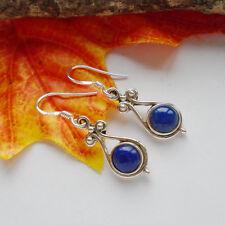 Lapislazuli, blau, edel, elegant modern Ohrringe, Ohrhänger, 925 Sterling Silber