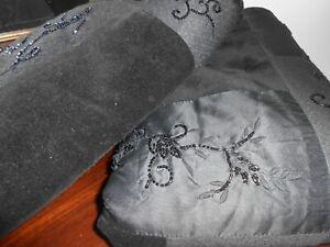 Pre-owned RALPH LAUREN BOHEMIAN PAISLEY BLACK velvet EURO SHAMS