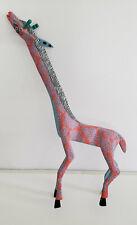 Vintage Oaxacan Wood Carving (Alebrijes) of a Giraffe - Mexican Folk Art - Signe