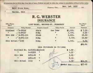 1937 Racine Ohio (OH) R. G. Webster Waid Cross