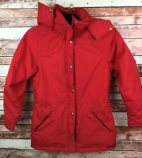 VINTAGE SIERRA DESIGNS GORE-TEX Women's Red Jacket w/ Snap-Off Hood Size 10