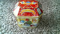 -84- M&M'S TIN BOX FIRE HOUSE HOOK & LADDER CHRISTMAS VILLAGE SERIES 1997
