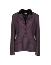 ALEXANDER MCQUEEN purple wool velvet suit blazer formal dress jacket riding 48