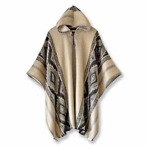 Lightweight BABY ALPACA Wool Hooded Poncho Pullover UNISEX Handmade in Otavalo