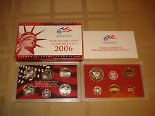 10 COIN 2006 S UNITED STATES MINT SILVER PROOF SET WITH COA EXCELLENT