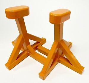 Orange Low  Pedestal Blocks, Accro Blocks