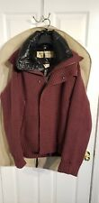 Burberry Knit Sweater W/Detachable Puffy Vest/Mahogany Red XL (Retail $1295)
