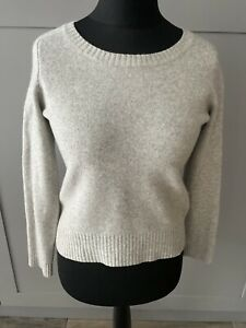 Boden Light Grey 100% Wool Round Neck Jumper Sweater Pullover Size 12