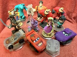 XBOX 360 Disney Xfinity Game Pieces and Characters/Figures Lot CARS MONSTERS INC