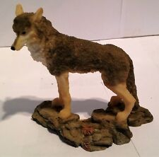 "Wolf / Wolves Figurine ,Standing Wolf , Resin, 5"" High"