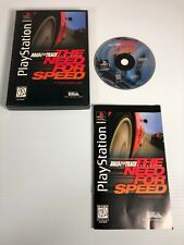 Road & Track Presents: The Need for Speed - PlayStation 1 PS1 - With NFL Faceoff