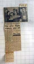 1954 Sam And Marjorie Farrant, Abingdon, Win Flight To Australia Contest